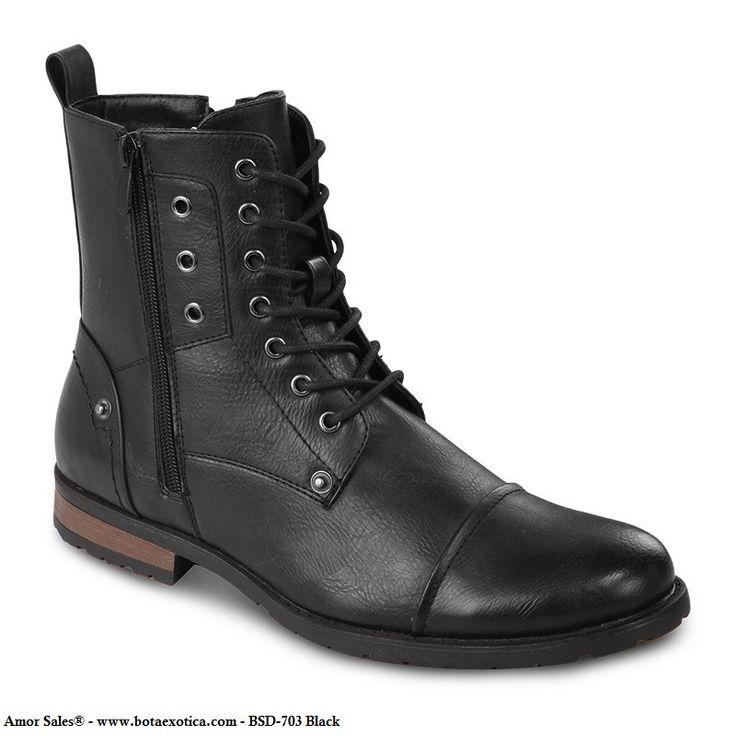 BSD-703 - Botas Casuales para Hombres. Botas modernas para hombres / Fashion Boots for men. Forro de cuero / Leather lining Suela de goma / Rubber outsole. Bonafini Shoes - Botas casuales para hombres