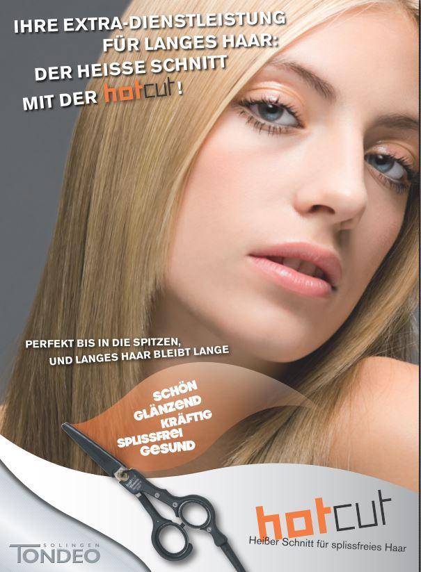 Die heiße Haarschere hotcut hilft dabei den Langhaarschnitt neu zu definieren.   #tondeo #hotcut #friseurschere #heissefrisur