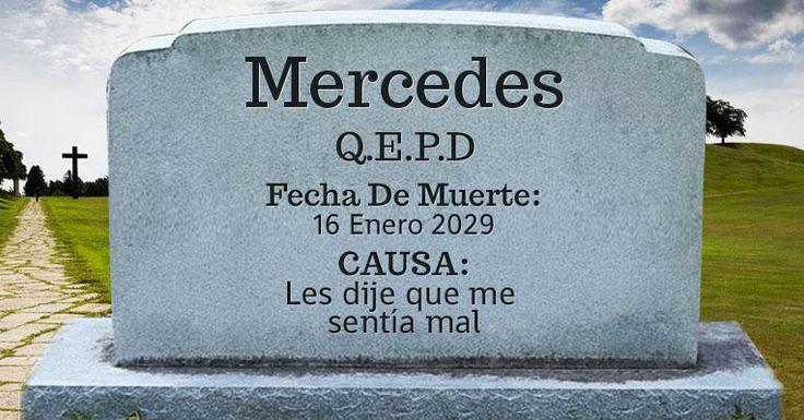 Lapida de Mercedes - Descanza en paz