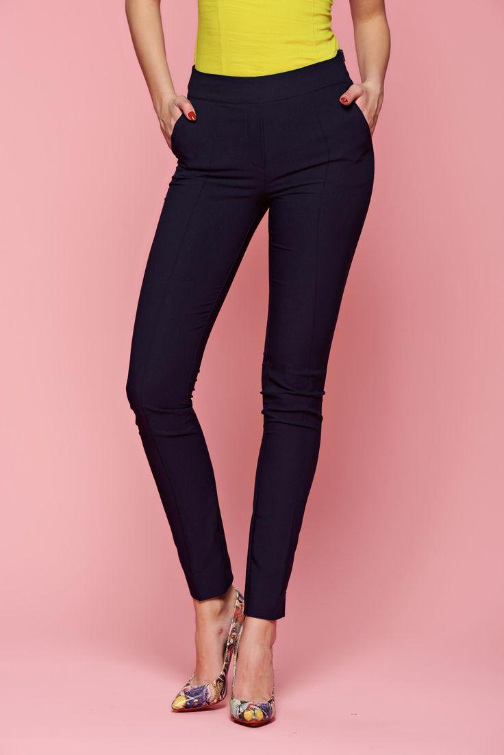 Comanda online, Pantaloni Fofy Lady Love DarkBlue. Articole masurate, calitate garantata!