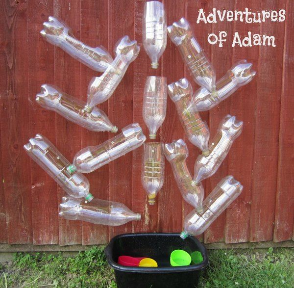 Day 17 - recycled materials Toddler Water Wall Update | http://adventuresofadam.co.uk/toddler-water-wall-update/