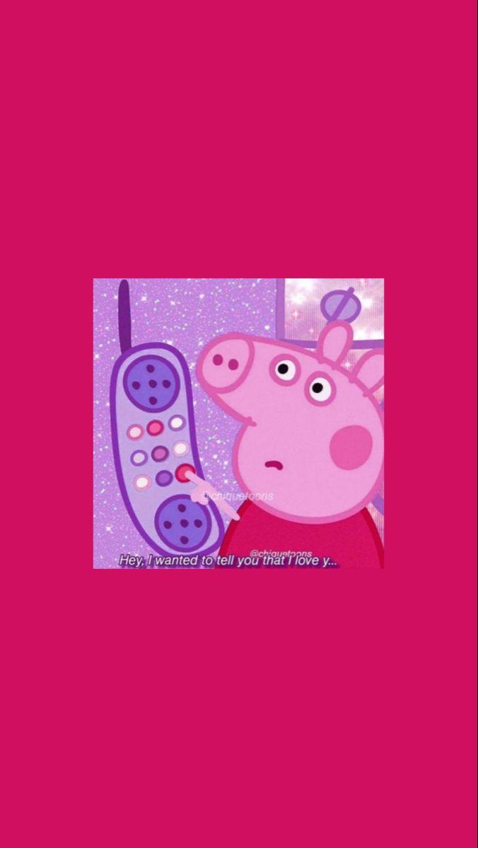 𝘸𝘢𝘭𝘭𝘱𝘢𝘱𝘦𝘳 𝘱𝘦𝘱𝘱𝘢 𝘱𝘪𝘨 𝘱𝘪𝘯𝘬 Peppa Pig Wallpaper Pig Wallpaper Funny Phone Wallpaper