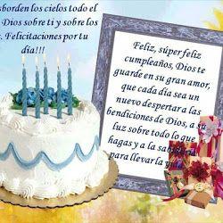 Feliz, súper feliz cumpleaños, Dios te guarde en su gran amor
