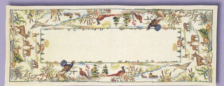 Woodland Table Runner - Aida: Cross stitch (Eva Rosenstand, 93-014)