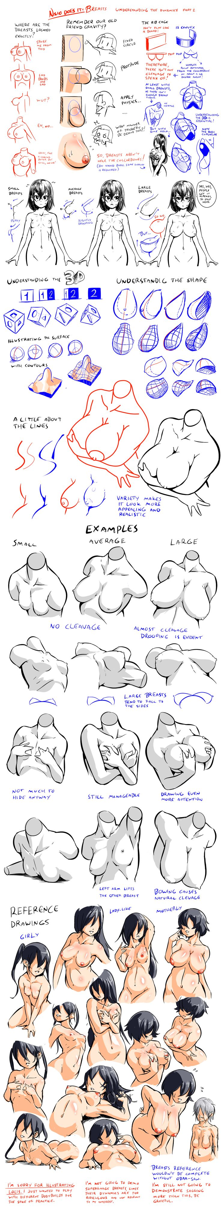 Breasts - Understanding the Dynamics 2 by Nsio on deviantART