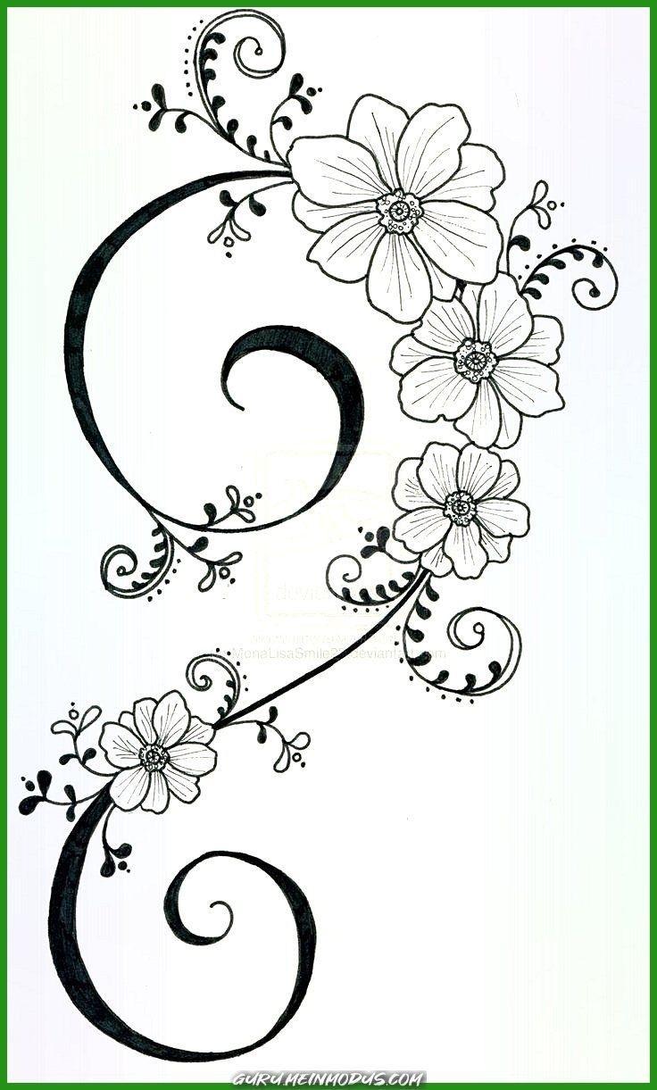 Malvorlagen Blumen Ranken  Malvorlagen blumen, Blumenzeichnung