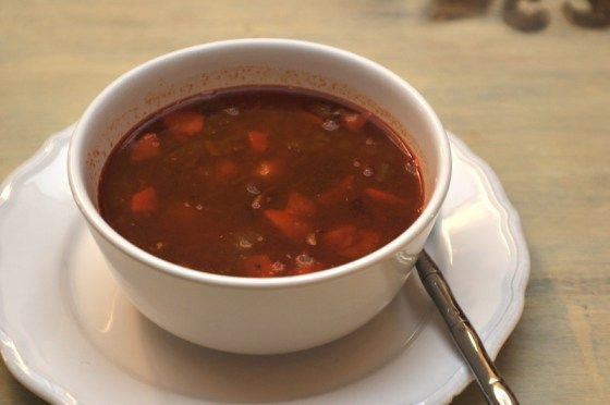 """The German Goulash soup is a traditional soup especially for New years Eve, the night where people everywhere are celebrating the last hours of the old year. In Germany this evening is called """"Silvest"""