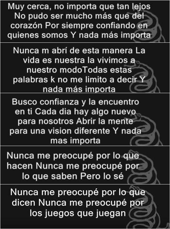 letra de nothing else matters de Metallica,en español