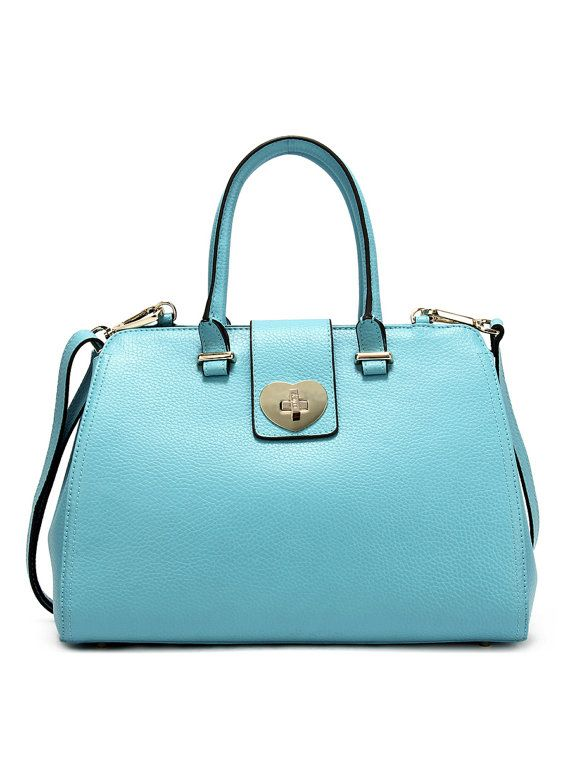 Florence Luxury Leather Handbag in our Vibrant Blue by CuteyBags, £55.00
