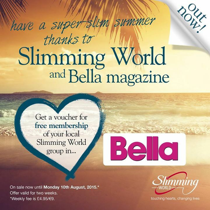 Buy the Bella for a FREE membership offer - can be used in Da Vinci's Slimming World this week or next