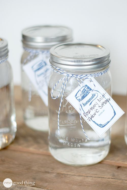 Make Your Own Rosemary Mint Fabric Softener - One Good Thing by Jillee