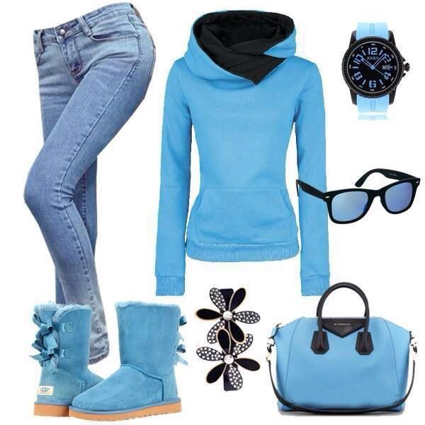Cute Baby Blue Outfit For Winter Outfits Pinterest