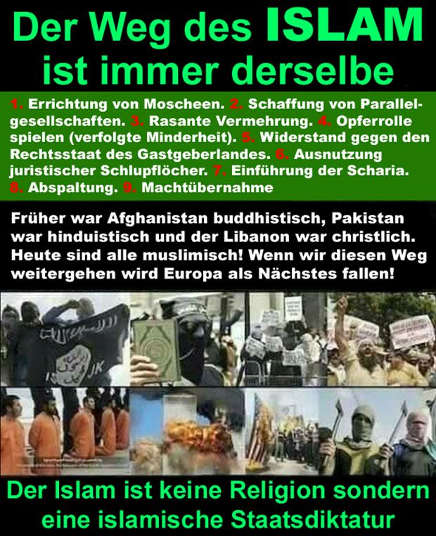 Der Islam führt Krieg gegen den Westen, damit wir den islamischen Terror als neue Normalität akzeptieren und uns dem Islam unterwerfen! | WordPress Presseartikel RfD Rettung für Deutschland