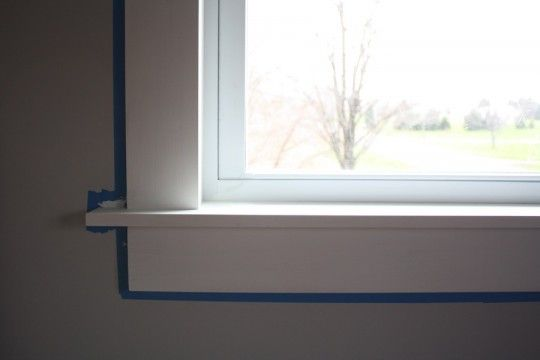 modern window sill | Very happy with this clean, sleek window sill. More