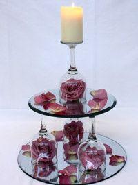 6. Mirrored Tiers - 7 Simple DIY Wedding Centerpieces ... | All Women Stalk