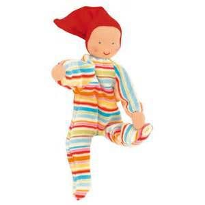 Kathe Kruse Striped Nickibaby | Cow & Lizard toy store