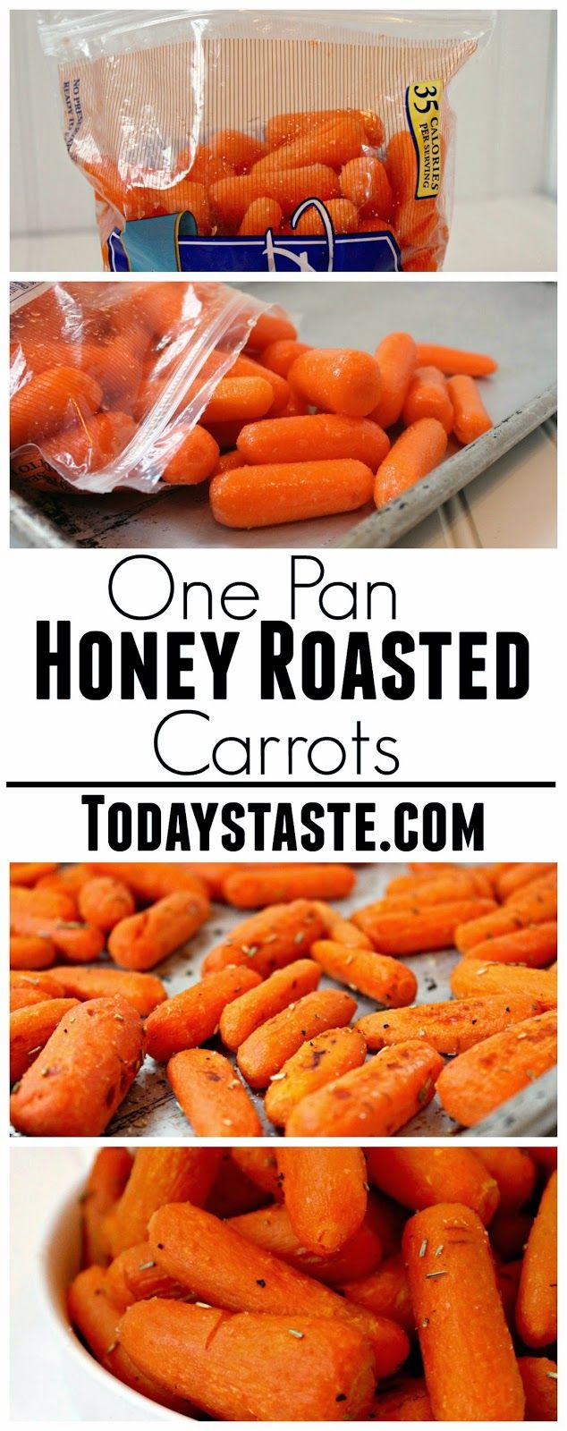 One Pan Honey Roasted Carrots - The perfect side dish for almost any meal!