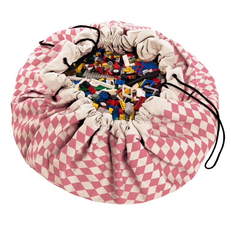 Play&Go for girls! Cleaning up toys has never been so simple! A 2 in one toy storage bag that doubles as a play mat is every child's dream. Even lego storage is simple, and dolls, cars, balls and blocks can all be swiftly cleared away with one swing. The Play&Go toy storage bag measures 140cm in diameter and is made from pure cotton fabric. Its portable, hard wearing design also makes it the perfect lego storage sack for the beach, the park, holidays or trips to visit grandparents