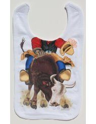 LolaViola - Bib: Bull Rider, $12.00 (http://lolaviola.co/bib-bull-rider/)