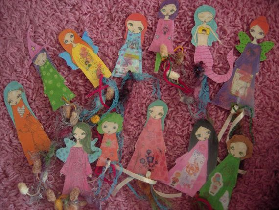 mix pack of 15 paper dolls laminated bookmarks with by eltsamp, $75.00