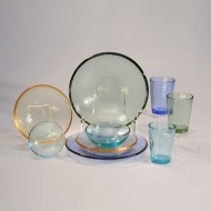 Glass dishes and glassware at Human Arts Gallery in Ojai - love it!