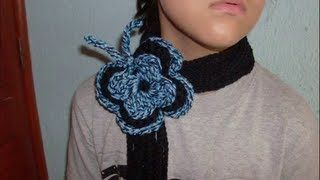 0.52 COMO HACER UNA BUFANDA DE MARIPOSA EN CROCHET GANCHILLO CROCHET, via YouTube.