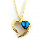 Gold Plated Paua heart. only $22.20