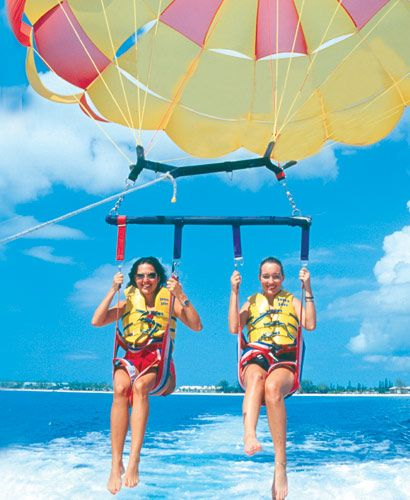 Parasailing with a friend