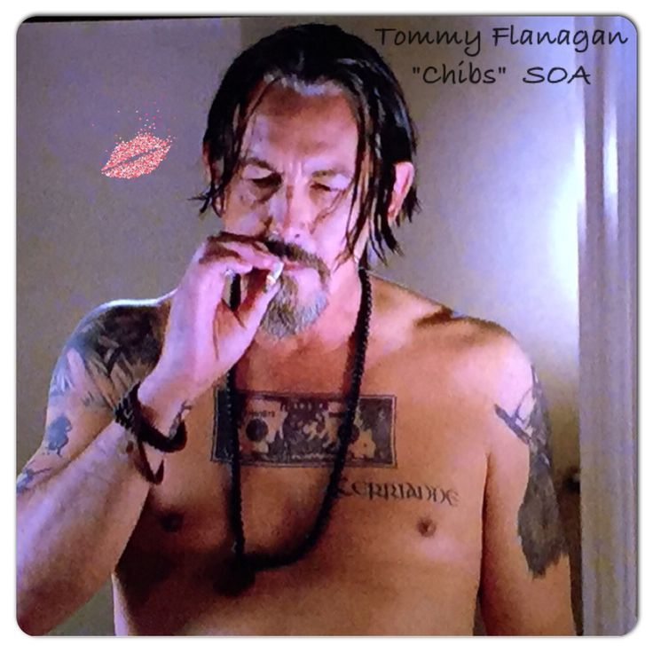 """Tommy Flanagan  """"Chibs"""" SOA  season 7.  Out of the shower after shagging the sheriff. LOL"""