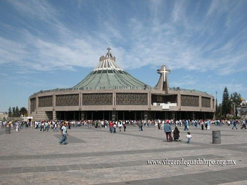 Basilica of Our Lady of Guadalupe in Mexico, one of the largest churches in the world. Receives about 20 million pilgrims per year. https://www.pilgrim-info.com/national-basilica-lady-guadalupe/