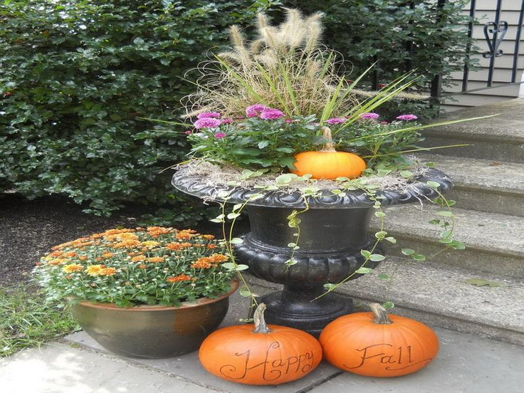 25 best ideas about outdoor fall decorations on pinterest for Idea deco guijarro exterior