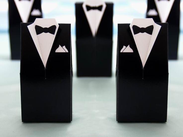 10 stk - Bryllup esker - Smoking - hos Til Bryllupet