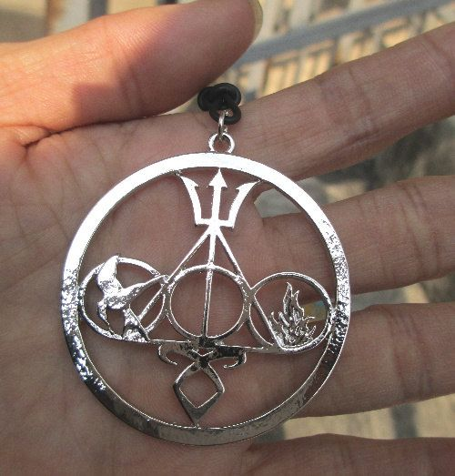 ULTIMATE FAN COMBO Necklace Harry Potter jewelry, The Mortal Instruments, Divergent and Percy Jackson silver on Etsy, $3.00