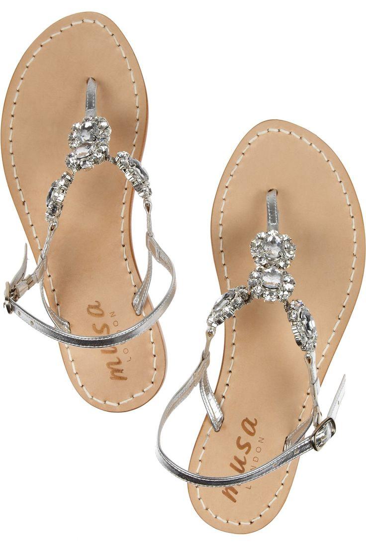 Black sandals littlewoods - Musa Crystal Embellished Sandals