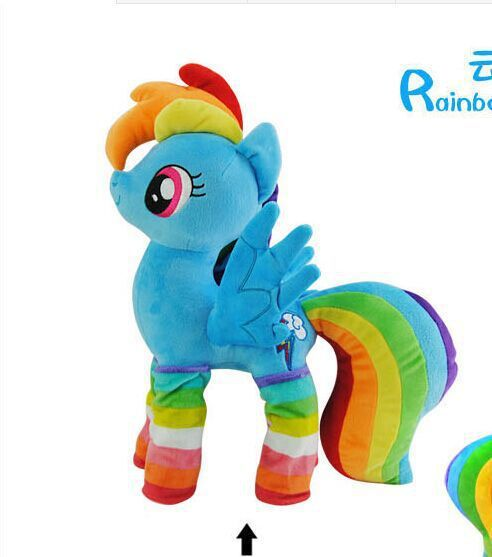 lovely blue horse toy stuffed party dress horse doll rainbow dash toy doll gift toy about 40cm //Price: $US $37.79 & FREE Shipping //     #toys