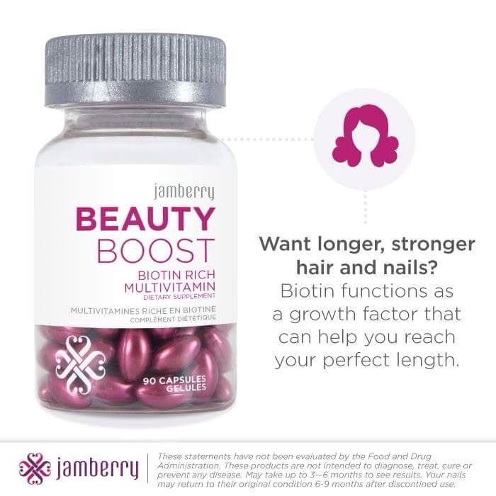 #BEAUTYBOOSTJN  Beauty Boost has improved my hair and Nail Health so much especially after having my second son my hair and nails were brittle and always breaking, my hair was always so dry and knotty, thanks to Jamberry Beauty Boost They Are now Healthy and Strong.