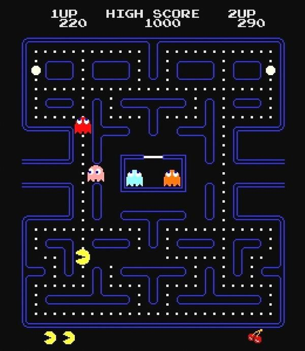 Pac Man baby, Pac Man!!  Started playing this when I was about 7!  My dad would take me to play it at Dairy Queen every week, and then at the local arcade!!!  We could play for hours with only one dollar!!!!  :)