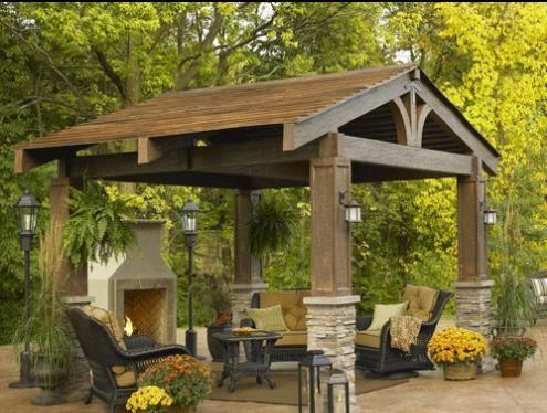 P rgolas cenadores y porches sombra para tu jard n http - Casas pequenas con porche y jardin ...