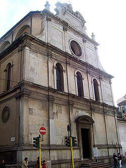 Facciata della chiesa di S. Maurizio al Monastero maggiore