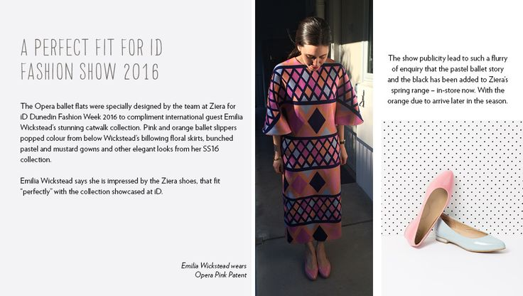 """The perfect fit for ID Fashion Show 2016.    Emilia Wickstead says she is impressed by the Ziera shoes, that fit """"perfectly"""" with the collection showcased at ID."""