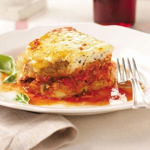 "The Best Eggplant Parmesan:""Truly delicious! I love eggplant and have many recipes, but this one's my favorite. The cheeses and seasonings make this dish unforgettable."" —Dottie Kilpatrick, Wilmington, North Carolina:http://www.tasteofhome.com/Recipes/The-Best-Eggplant-Parmesan"