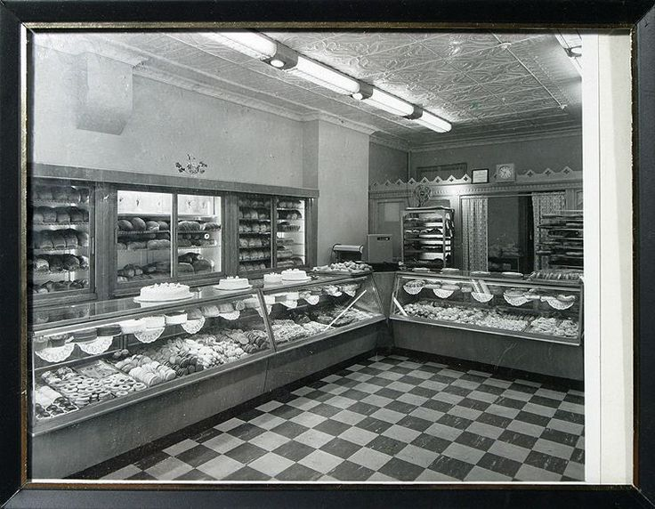Bakery Shop Interior Shot 1940s Showing Baked Goods Framed Vintage Print | eBay