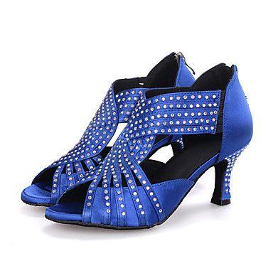 Customizable+Women's+Dance+Shoes+Latin+Leatherette+Flared+Heel+–+AUD+$+31.59