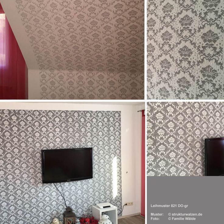 Barockes Muster 821 DO-gr in zwei Farbkombinationen positiv/negativ (Leihwalze)- baroque pattern roller