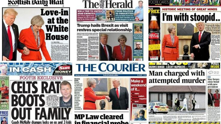 Scotland's papers Donald Trump and Theresa May 'love-in' - BBC News