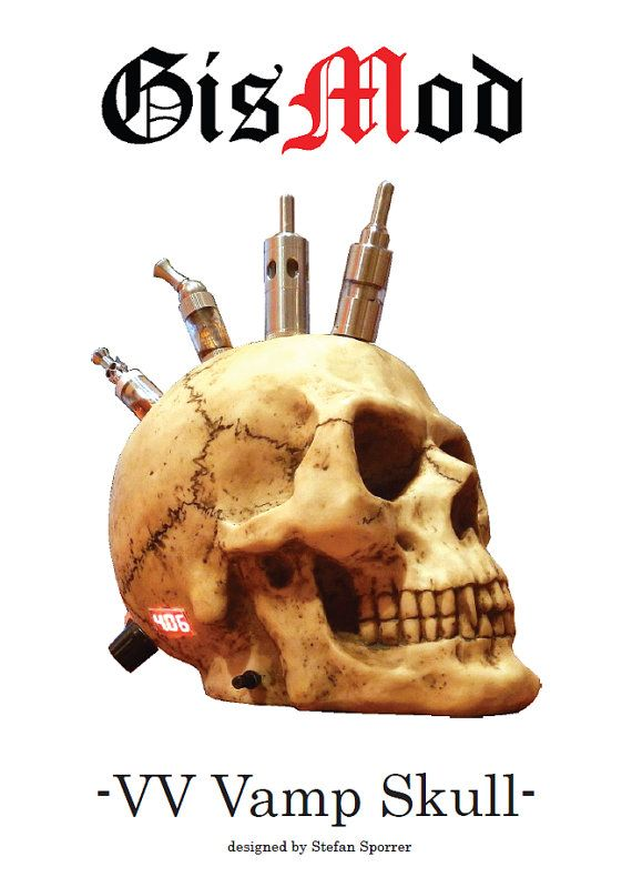 Hey, I found this really awesome Etsy listing at http://www.etsy.com/listing/162501840/gismod-vv-vamp-skull