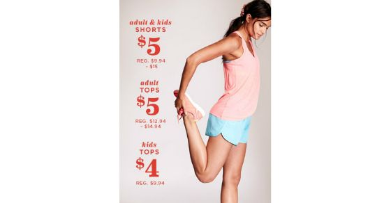 Do you need some new activewear? Click here to learn how you can score activewear for the entire family at Old Navy today ONLY for just $5!