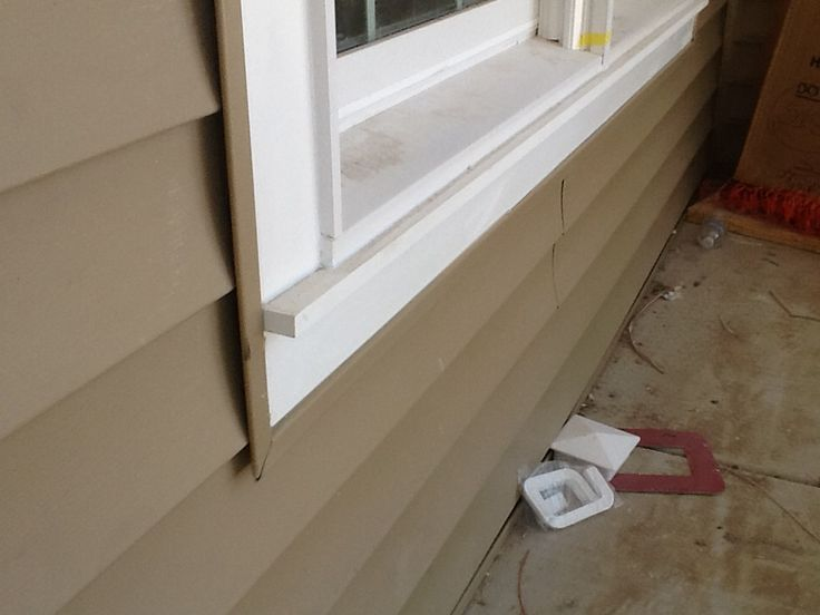 Azek Pvc Window Trim With Apron Sill With Dark Tan Clay