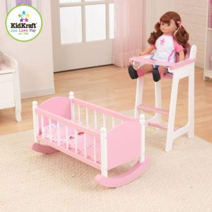 Charmant Kidkraft Doll High Chair And Crib