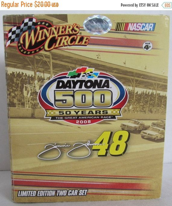 FALL FLASH SALE Daytona 500 Cars- Jimmie Johnson and Dale Earnhardt Jr-Chevrolets by CellarDeals on Etsy